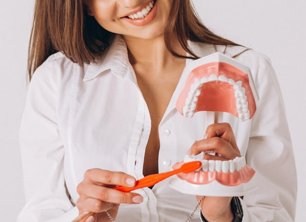 Professional dental scaling and cleaning